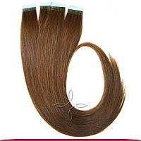 Натуральные славянские  волосы на лентах 55-60 см 100 грамм, Шоколад №04