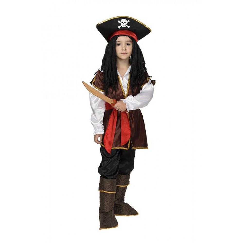 Карнавальный костюм пирата Джека Воробья для мальчика