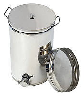 Бак отстойник для меда с нержавеющим фильтром 35 л, кран алюминиевый