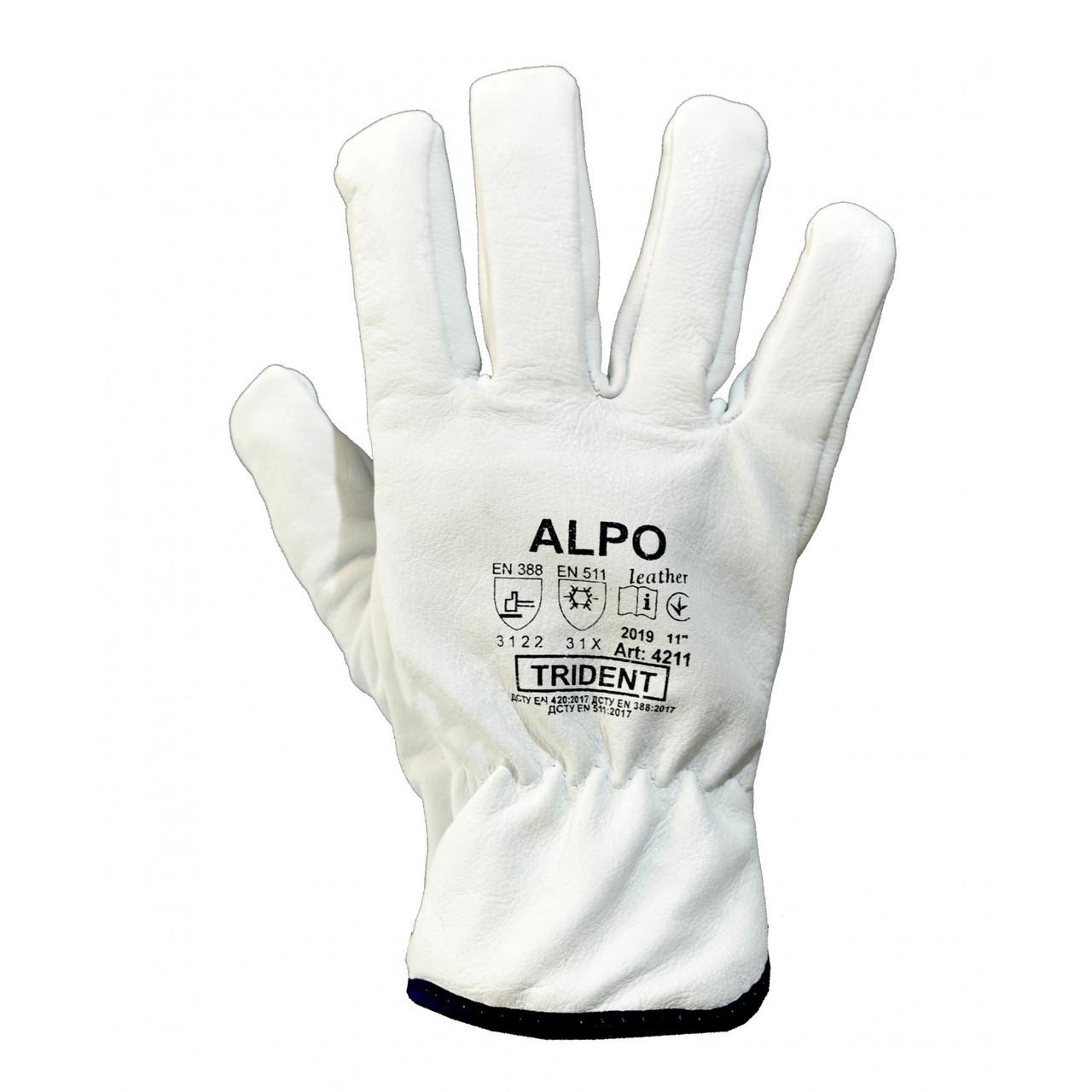 Рукавички теплі шкіряні ALPO розмір 11 Україна