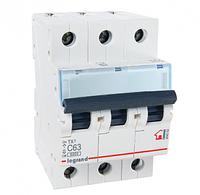 Автоматический выключатель 3-полюсный Legrand TX3 63A 3Р 6кА тип «C»