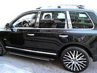 Хром накладки на стійки Volkswagen Touareg 2010-2021 (Carmos)