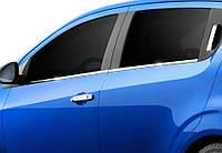 Chevrolet Aveo 2012-2021 HB Нижні молдинги стекол OmsaLine