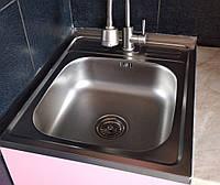 Кухонная мойка Platinum 5060 Satin 0,7мм накладная