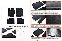 Mercedes ML 166 резиновые коврики Stingray Premium, фото 1