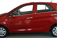 Окантовка вікон (нерж.) Kia Picanto 2012-2021