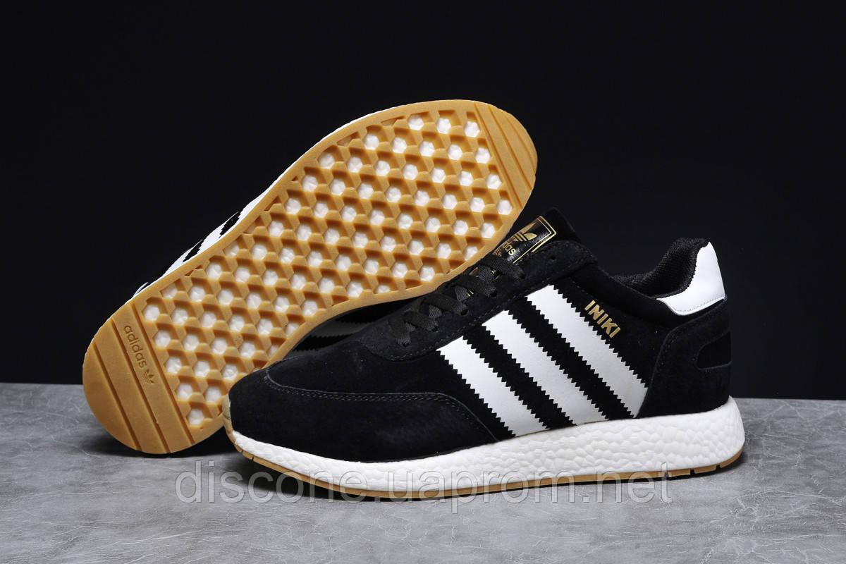 Зимние мужские кроссовки 31662 ► Adidas Iniki, черные ✅Скидка 23% [ 41 ] ► (41-25,3см)