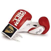 Профессиональные боксерские перчатки на шнурках PROFFI