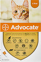 Advocate Bayer для котів до 4 кг, 1 уп.