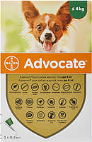 Bayer Advocate для собак до 4 кг, 1 пипетка