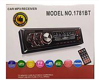 Автомагнитола 1DIN MP3 1781BT (1USB, 2USB-зарядка, TF card, bluetooth)