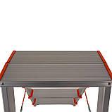 Стремянка двусторонняя алюминиевая Laddermaster Polaris A5A2. 2x2 ступеньки, фото 4