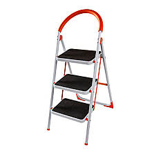 Стремянка стальная Laddermaster Intercrus S1A3. 3 ступеньки