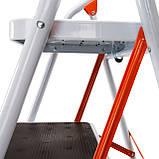 Стремянка стальная Laddermaster Intercrus S1A4. 4 ступеньки, фото 4