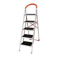 Стремянка стальная Laddermaster Intercrus S1A5. 5 ступенек