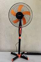 Напольный вентилятор Domotec MS-1620 с таймером, 3 режима, 40W