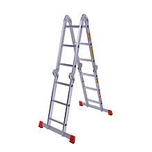 Драбина шарнірна алюмінієва Laddermaster Bellatrix A4A3. 4x3 сходинки