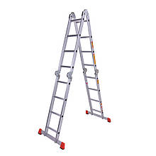 Драбина шарнірна алюмінієва Laddermaster Bellatrix A4A4. 4x4 сходинки