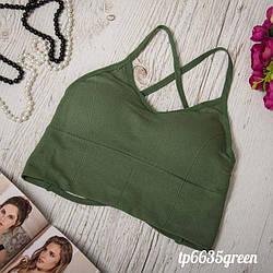 Топик женский зеленый TP6635green   1 шт.