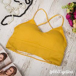 Топ жіночий жовтий TP6635yellow | 1 шт.