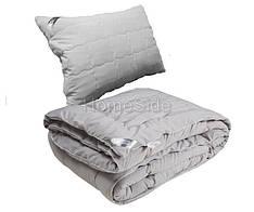 Одеяло полуторное 140х205 GREY антиаллергенное + подушка 50х70