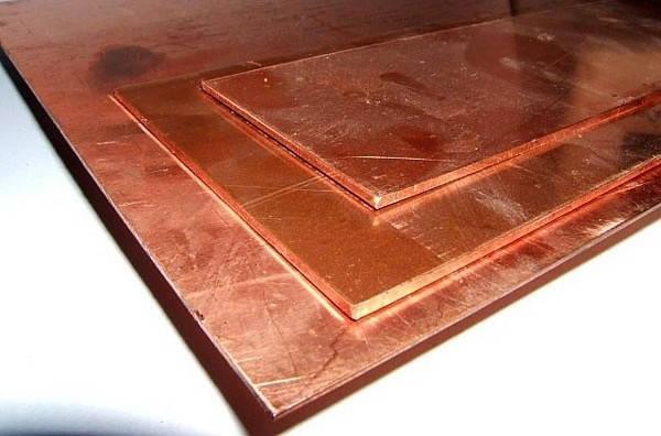 Лист медный М1 мягкий 0,8х1000х2000 мм, фото 2