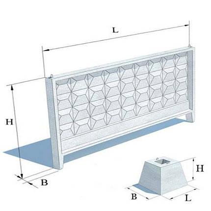 Забор бетонный П-6-Ви, фото 2