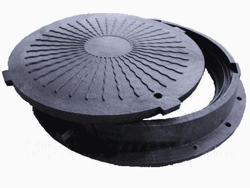Люк полимерпесчаный (черный 2т)
