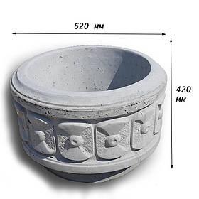 Цветочница бетонная К-15 (70 кг  62*42)