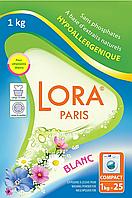 Стиральный порошок Lora Paris для белого белья, 1 кг