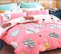 Комплект постельного белья бязь Веселые сердечки (Двуспальный)