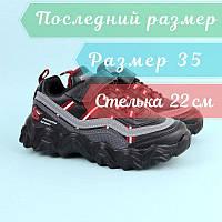 Детские черные кроссовки для мальчиков тм Tom.M размер 35, фото 1