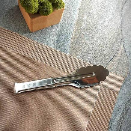 """Щипці для барбекю роздавальні з нержавіючої сталі """"листочок"""" HLS (7623), фото 2"""