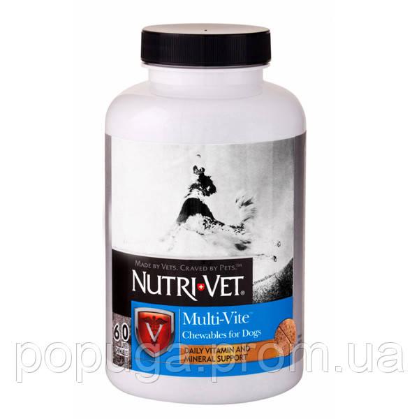 Nutri-Vet Multi-Vite НУТРІ-ВЕТ МУЛЬТИ-ВІТ мультивітаміни для собак,60шт. жувальні таблетки