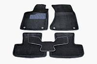 Коврики в салон 3D для Audi Q5 2008-2017 /Черные 5шт 86289