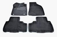 Коврики в салон 3D для Toyota Highlander 2014- /Черные 5шт 85760