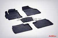 Коврики в салон для Toyota Corolla 2013-2018 резиновые, кт 5шт