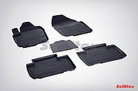 Коврики в салон для Toyota Rav4 2012-2018 резиновые, кт 5шт