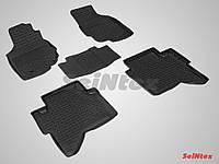 Коврики в салон для Toyota Hilux 2010-2015 резиновые, кт 5шт