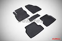 Коврики в салон для Ford Focus II 2004-2011 резиновые, кт 5шт