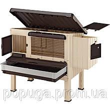 Пластиковий будиночок для курей FERPLAST HAPPY FARM 120, 140 x 139 x h 110 cm