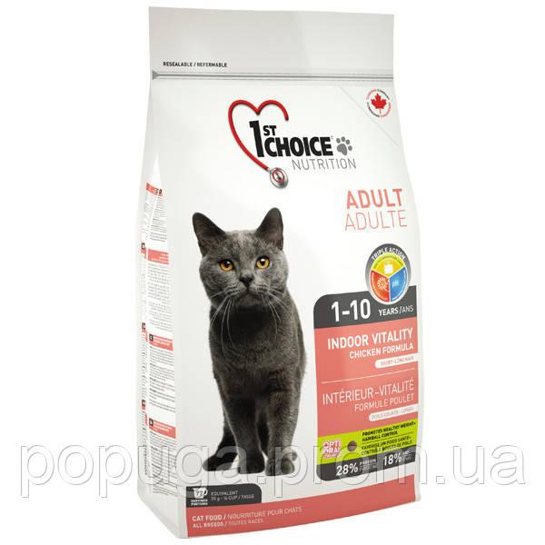 1st Choice Indoor Vitality Adult Корм для котів всіх порід, 907 р