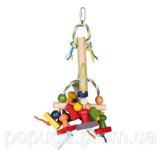 Іграшка для великих папуг 31см.