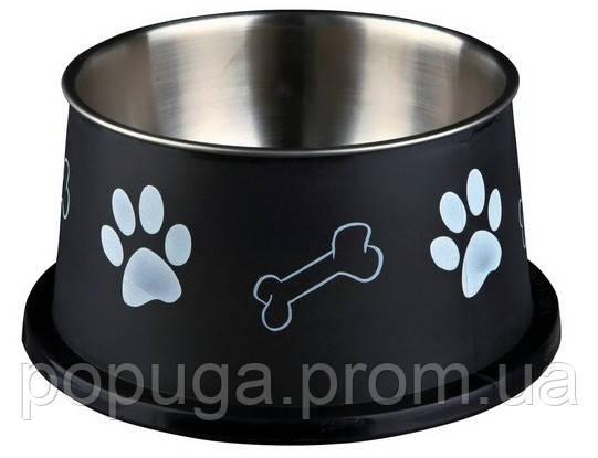 Миска металлическая для собак, Trixie 0,9л/15 см