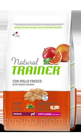 Trainer (Трейнер) Natural Puppy&Junior Medium - корм для цуценят середніх порід з куркою та індичкою, 3 кг