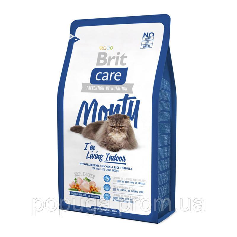 Корм Brit Care Cat Monty I am Living Indoor для кошек, живущих в доме, 400г