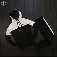 Зимний мужской спортивный костюм на флисе найк/Nike