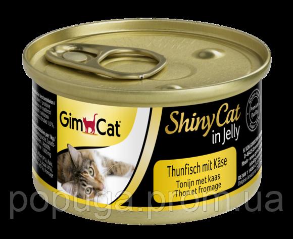 Консервы Gimcat ShinyCat с тунцом и сыром, 70 г