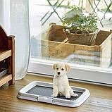 Туалет для собаки под пелёнки со столбиком Stefanplast 60x40x4h см, фото 3