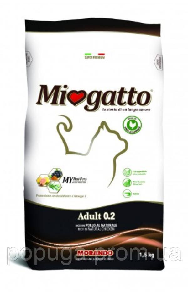 Miogatto Aduit 0.2 Chicken&Rice корм для кошек КУРИЦА И РИС, 10 кг